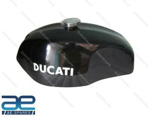 For Ducati 750 GT 1972 Black Painted Steel Fuel Petrol Tank With Monza Cap ECs