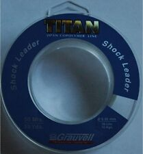 Nylon pêche Grauvell Titan Shock Leader 50m 0,50mm 16kg