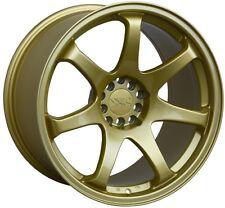 18X9.75 XXR 551 WHEELS 5X100/114.3 +22 GOLD RIM FITS NISSAN 350Z 2003-2009
