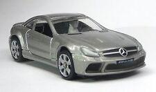 "Top Gear Modellauto Mercedes SL65 AMG BLACK silbergrau 1:64 ""STIG POWER SERIES"""