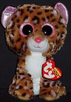 TY BEANIE BOOS BOO'S - PATCHES the LEOPARD- MINT with MINT TAGS