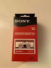 Sony Micro Cassette Tapes 10 Pack 60 Minutes new 10mc60l