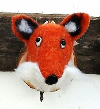 Fox Perchero Colgador De Pared Cabeza De Animal Trofeo, regalo de fieltro en placa de madera 009 de fieltro