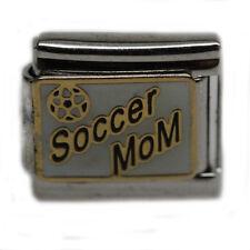 Soccer Mom Italian Link Bracelet Charm