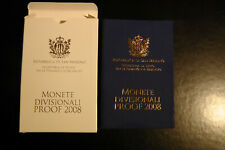 San Marino KMS 2008 PP Off. Euro Kursmünzensatz mit 1 Cent bis 2 Euro Proof