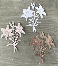 Stanzschablone/ Cutting dies elegante Lilie Blumen neu zart, 7 x 8,5 cm
