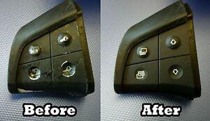 Mercedes Benz W251 W164 Steering Wheel Black Button Repair Decal Stickers