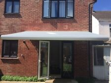 Luxtek Retractable Folding Arm Awning 5.5m x 3.0m Full Cassette (Grey) Motorised