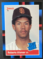 1988 Donruss Baseball Rated Rookie Roberto Alomar #34 RC San Diego Padres