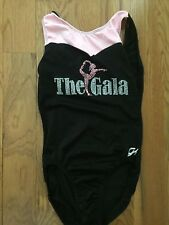 Girl's GK Elite The Gala Black and Pink Gymnastics Leo - Adult S-EUC