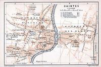 Saintes 1912 pt. plan ville orig. + guide (5 p.) St-Macoult St-Eutrope des-Dames
