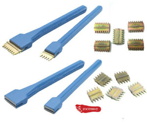 "Footprint Scutch Comb Holding Chisel 1"" & 1 1/2"", 5pc Scutch Combs Bricklayers"