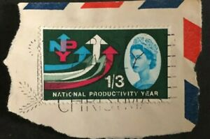 Great Britain 1962  National Productivity Year phosphor On Cover (Collectible)