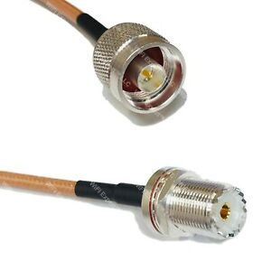 RG400 N MALE to UHF Female BULKHEAD Coaxial RF Cable USA-Ship Lot