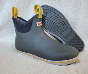 XTRATUF Men's 6 in Ankle Deck Boot Gray Size 10