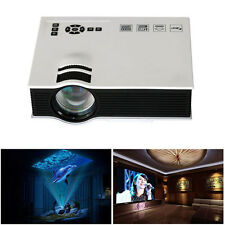 1800lumens LED Mini Home Multimedia Projector 1080P HD HDMI USB Video White New