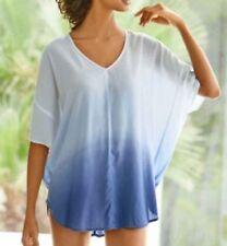 1c45c3c8db2 Long Top UK Size 10 - 20 Ladies' Blue and White Batik or Tie Dye