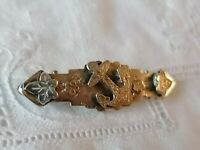 Antique Victorian Sterling Silver 925 Pretty Pin Aesthetic Old Bar Brooch
