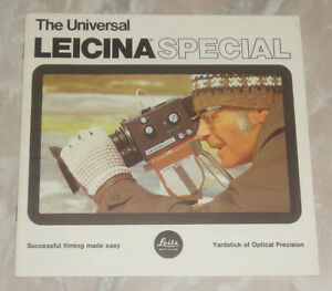 Rare Leicina Special Super 8 Film Camera 24 Pages Sales Brochure Leica 8mm Movie