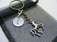 Personalised Horse Pony Charm Keyring - Choose Initial