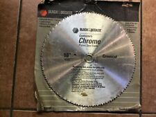 """NEW Black & Decker  Contractor's Chrome 10"""" PLATED Saw Blade  FREE SHIPPING"""