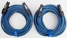 Lautsprecher Kabel Boxen Kabel Speakon kompatibel 2 Stück je 12m lang inkl.Klett