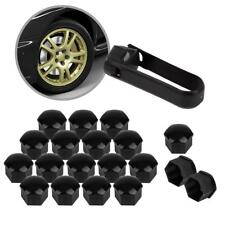 20 Black Wheel Lug Nut Center Cover Caps + Tool for Audi A1 A3 A4 A5 A6 A7A8 Q5