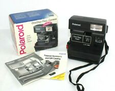 Polaroid One Step Flash with Box and Manual Strap Untested Very Clean