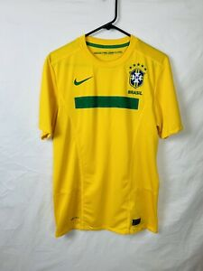 Nike Soccer Jersey Size Medium Brazil 2011 Home Shirt Authentic Jersey