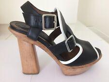 Marni Black Platform Ankle Strap Sandals Size 38 (UK 5)