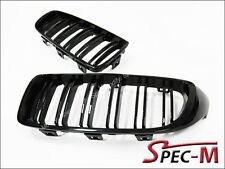 Shiny Black Front Grille Grill Kits New M3 Type For BMW 2012+ 328i 328d 335i 4Dr