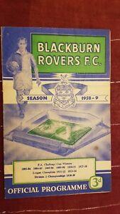 1958/59 Football Programme BLACKBURN ROVERS v ARSENAL - 25th October