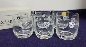 Set of 6 Gleneagles Crystal G2 Mackintosh design whisky tumblers in box