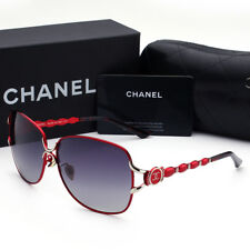 Sunglasses Polarized¹Chanel Wine Red Frame Double Gray Chip Iridium