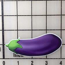 "Eggplant Emoji 4"" Wide Multi-Color Vinyl Decal Sticker - BOGO"