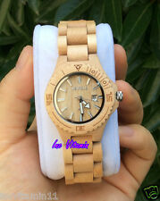 New Branded Women Lady's Natural Maple Wooden Watch Water Resistant Love Gift