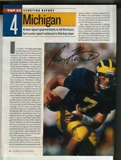 Drew Henson Autographed Sports Illustrated Page Michigan Wolverines QB