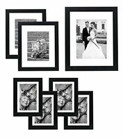 Americanflat Gallery Wall Picture Frame Set 11x14  8x10  5x7 (7) Pack Pick Color