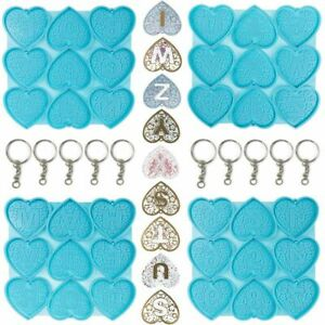 Alphabet Resin Molds 26 Letters Molds Keychain Heart Shaped Silicone Mold UK