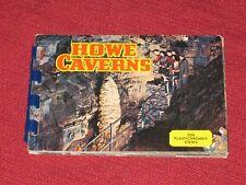 Vintage Howe Caverns Multi Photo Souvenir Booklet - Ten Plastichrome Views