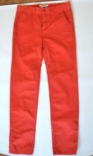 New Quiksilver Boys Chinos Red Size 16 Straight Tapered