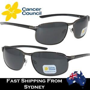 Cancer Council Mens Sunglasses Metal Frame Sports BOTANY Smoke Mono Polarized