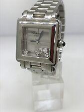 Chopard Happy Sport 2000 Stainless Steel Diamond Bracelet Ladies Watch 27/8888
