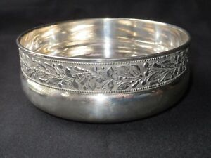 Italian Fatto A Mano 800 Sterling Silver Bowl Flowers Decorated Donato Zaccaro