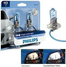 Philips Crystal Vision Ultra H3 55W Two Bulbs Fog Light Upgrade Replacement DOT