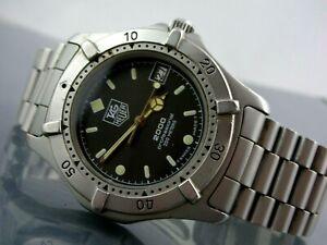 TAG HEUER 2000 quartz, classic MEN'S diver professional 200m, CHARCOAL GRAY
