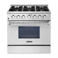 36' 6 burners gas grill Stainless Steel Kitchen Gas Range Thor Kitchen Hrg3618U