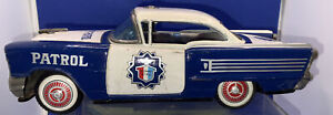 Rare Vintage Tinplate Friction Powered OLDSMOBILE High Way Patrol Car
