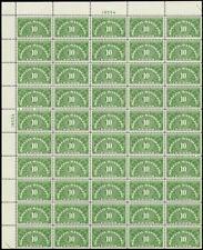QE1a, RARE Dry Printing Sheet of 50 Stamps VF-XF NH Cat $668.00 - Stuart Katz