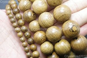100% Natural Wenge Wood Round Ball Beads 6mm 8mm 15mm 18mm 20mm Healing Bracelet